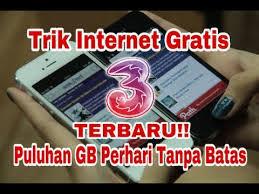 trik internet gratis three januari 2018 internet gratis three tanpa kuota terbaru 2018 cahyonoblog