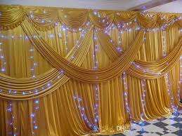 Curtain Drapes For Weddings 3m 6m Ice Silk Wedding Backdrop Curtains With Swag Wedding Drapes