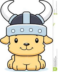 cartoon smiling viking puppy stock vector image 55237559