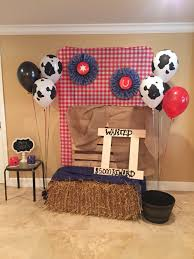 diy backdrop out of a clothes rack and clamps western party