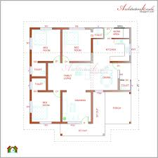 Floor Plans For 1500 Sq Ft Homes 1320 Sqft Kerala Style 3 Bedroom House Plan From Smart Home Gf