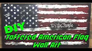 47 Star Flag Creating A Large Tattered American Flag With Spray Paint And