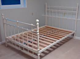 ikea white metal double bed frame saanich victorium wooden slat