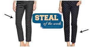 gap patterned leggings steal of the week spring slacks from gap blog by jessie holeva