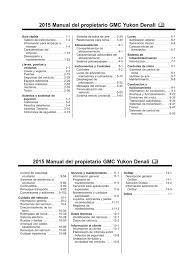 2015 gmc yukon model overview manual
