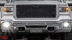 led lights for 2014 gmc sierra 2014 2015 gmc sierra 1500 led fog light kit by rough country youtube