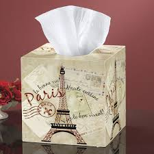 Paris Home Decor Accessories Greetings From Paris Tissue Box Cover Furniture Home Decor And