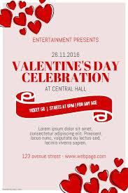 free valentine u0027s day event poster template for valentine u0027s