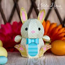 i love doing all things crafty 3d paper easter bunny
