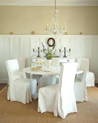 White Dining Room Chair Covers Kitchen Chair Slipcovers Impressive Dining Room Chair Slipcovers