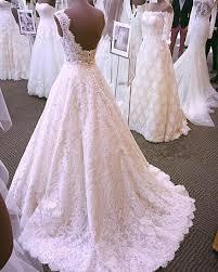 vintage lace wedding dresses vintage cap sleeves open back lace wedding dresses 2018 slayingdress