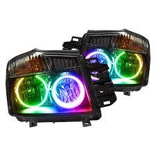 nissan titan fog lights oracle lighting nissan titan 2008 2015 chrome factory style