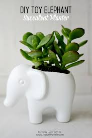 succulent planter toy elephant succulent planter make it and love it