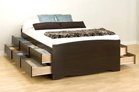 Platform Bed With Storage Underneath Uncategorized Bed With Drawers Underneath Within Beautiful