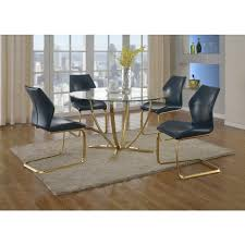 Glass Top For Dining Table Nicole Round Dining Table Glass Top Brass Plated Base Dcg Stores