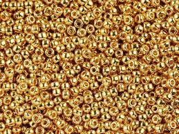 Handmade Seed Beaded Gold Plated Toho Bead Round 11 0 24k Gold Plated Artbeads