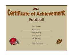 football award certificate