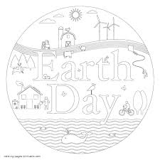 earth day coloring pages that you can print poster
