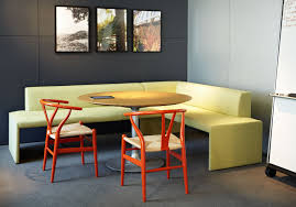 kitchen interior circle cream table with single stand combined
