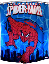 marvel spiderman polyester shower curtain 70 x 72 inch