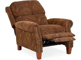 living room william manual club chair recliner paisley