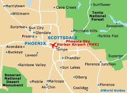 phx map map of sky harbor airport phx orientation and maps for