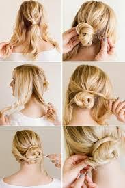 Hochsteckfrisuren Mittellange Haare Einfach by Hochsteckfrisuren Selber Machen 31 Ideen Anleitungen