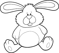 rabbit with flower color by number and by coloring pages