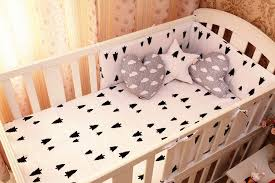 Crib Bedding Set With Bumper Promotion 6pcs Baby Bad Set 100 Cotton Baby Bedclothes