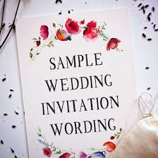 Marriage Invitation Websites Wedding Invitation Wording Creative And Traditional A Practical