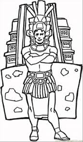 mexico coloring page aztec warrior coloring page free printable coloring pages vc