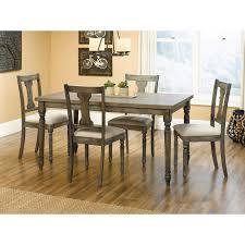 acme furniture wallace 6 piece rectangular dining table set