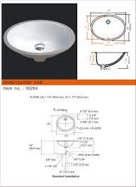 small oval porcelain undermount sinks synmar u0026 castech