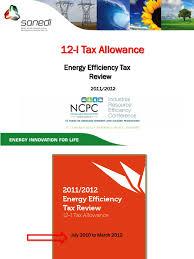 12l tax sanedi efficient energy use taxes