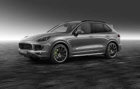 porsche suv blacked out cayenne s e hybrid gets a meteor grey metallic colour from porsche