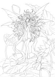 anime fairy coloring pages anime coloring pages adults