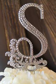 s cake topper gorgeous glam monogram wedding cake topper my