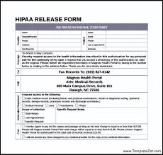 hipaa release form 10 medical release forms free sample