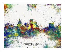 Map Of Ri Providence Skyline Providence Rhode Island Map Of