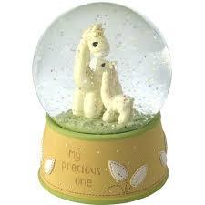 my precious one giraffe musical snow globe brahms lullaby