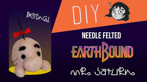 earthbound mr saturn diy needle felt youtube