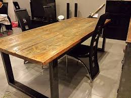 table cuisine bois exotique table exotique salle a manger lovely table salle a manger bois et