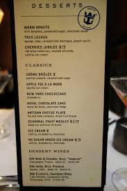 The Dining Room Jonesborough Tn by New Main Dining Room Menus On Oasis Of The Seas Menu Picture