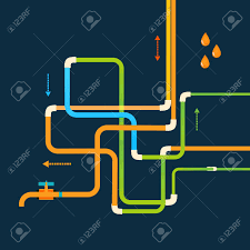 vector color abstract design tangled pipes eps royalty free