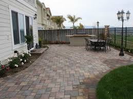 backyard patio pavers concrete square paver curved patios