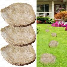 tronc d arbre artificiel pas japonais tronc d u0027arbre ecorce lot de 3 allée chemin gravier