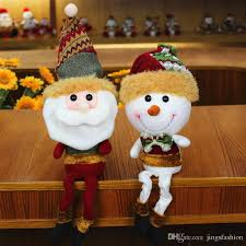 retractable santa claus snowman dolls standing navidad figurine
