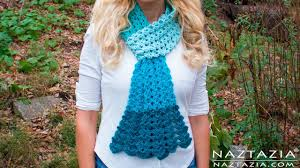 diy tutorial crochet mermaid tail scarf lace shell stitch lacy