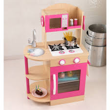 kidkraft pink wooden play kitchen 53195 hayneedle