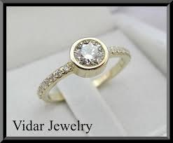 bezel set engagement ring bezel set diamonds engagement ring vidar jewelry unique custom